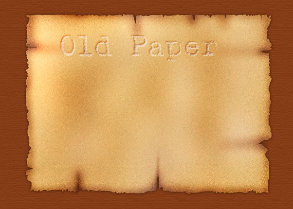 Make a Realistic Old Burnt Paper Piece in Photoshop Tutorial
