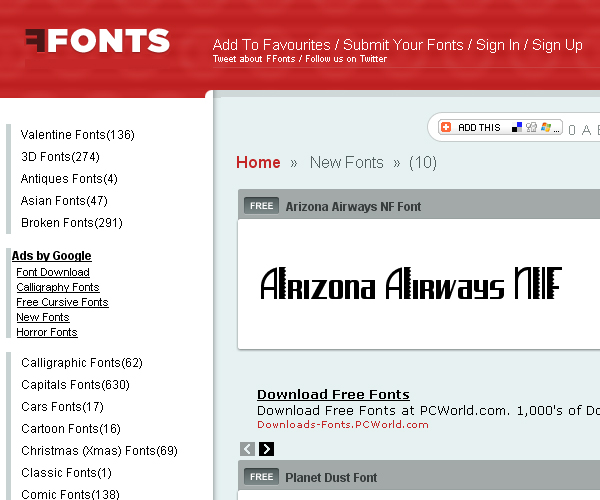 Free Fonts Download Website Collection