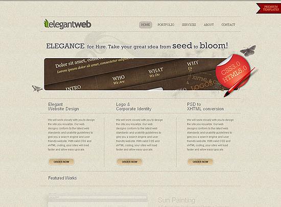 30+ Beautiful DIV/CSS Web Designs