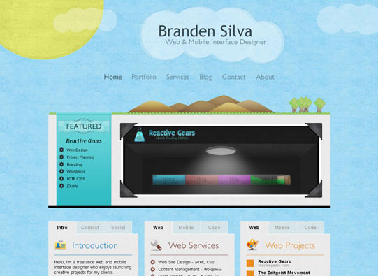 30+ Beautiful DIV/CSS Web Designs To Inspire You 11