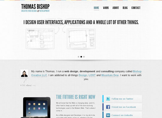 30+ Beautiful DIV/CSS Web Designs To Inspire You 17