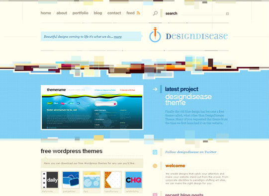 30+ Beautiful DIV/CSS Web Designs To Inspire You
