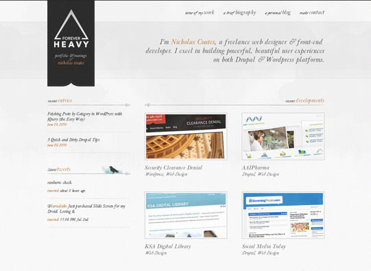 30+ Beautiful DIV/CSS Web Designs To Inspire You 5