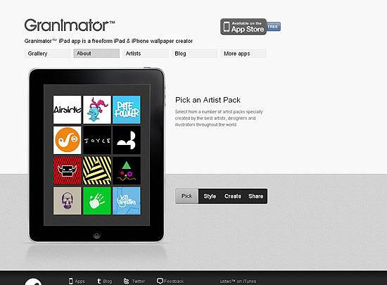 40 Beautiful and Creative iPad Application Websites 6