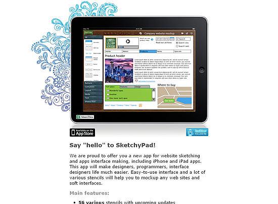 40 Beautiful and Creative iPad Application Websites 11