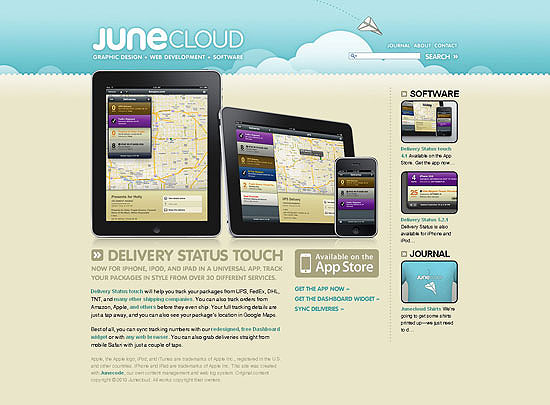 40 Beautiful and Creative iPad Application Websites 12