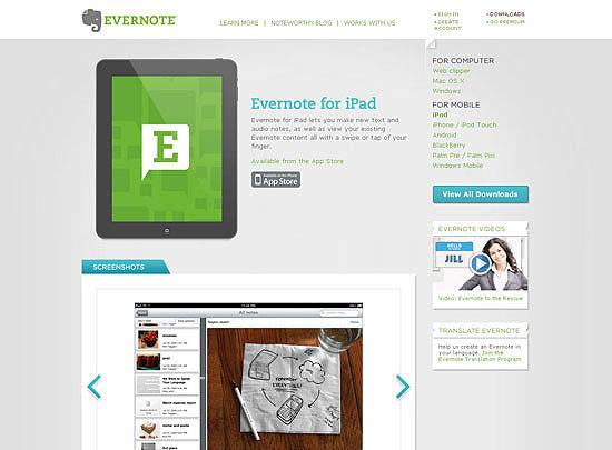 40 Beautiful and Creative iPad Application Websites 15