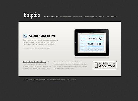 40 Beautiful and Creative iPad Application Websites 16