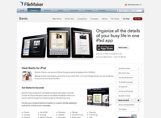40 Beautiful and Creative iPad Application Websites 18