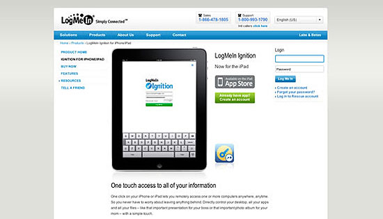 40 Beautiful and Creative iPad Application Websites 19