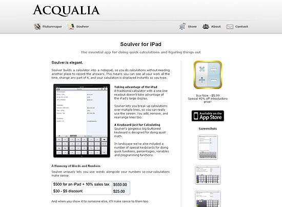 40 Beautiful and Creative iPad Application Websites 20