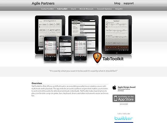 40 Beautiful and Creative iPad Application Websites 21