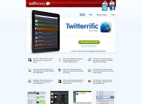40 Beautiful and Creative iPad Application Websites 28