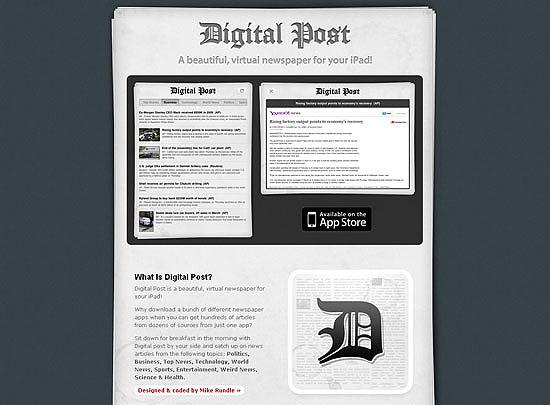 40 Beautiful and Creative iPad Application Websites 5