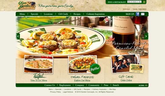 Showcase of Beautiful Restaurant Websites 11