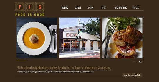 Showcase of Beautiful Restaurant Websites 20