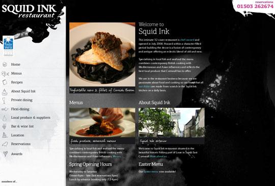 Showcase of Beautiful Restaurant Websites 21