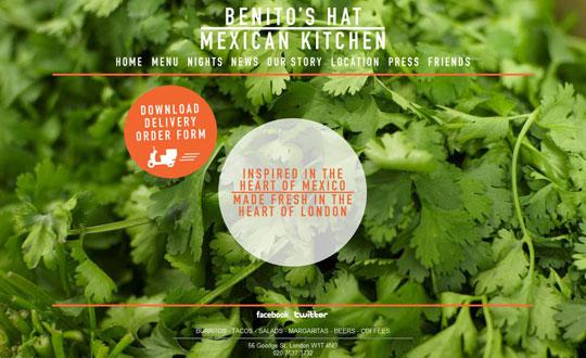 Showcase of Beautiful Restaurant Websites 31