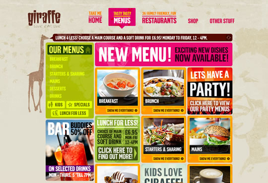 Showcase of Beautiful Restaurant Websites 39