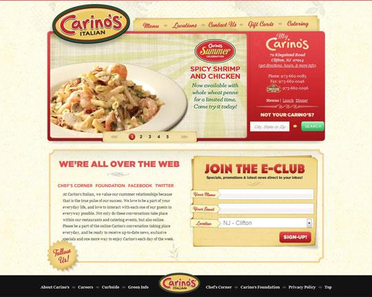 Showcase of Beautiful Restaurant Websites 43