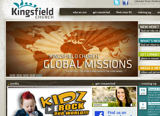 15 Beautiful Church Website Designs 1