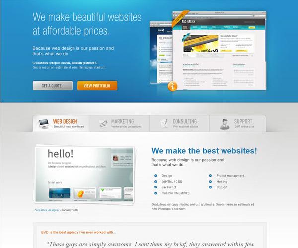 18 Amazing Photoshop Web Layout Design Tutorials 1