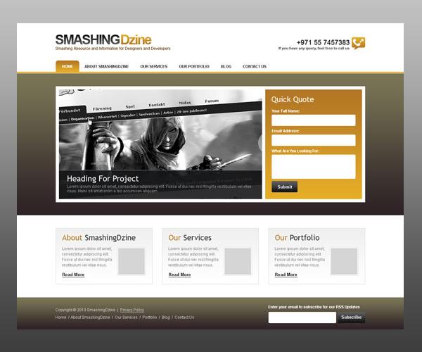 18 Amazing Photoshop Web Layout Design Tutorials 6