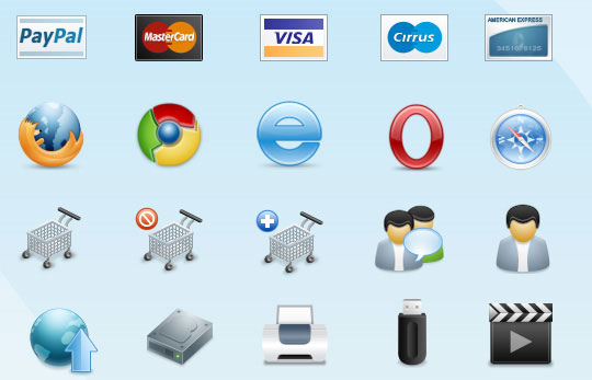 Best Free E-Commerce Icons For Web Designers 1