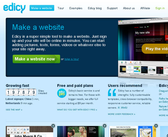 20 Useful Resources to Make your own Website for Free 3