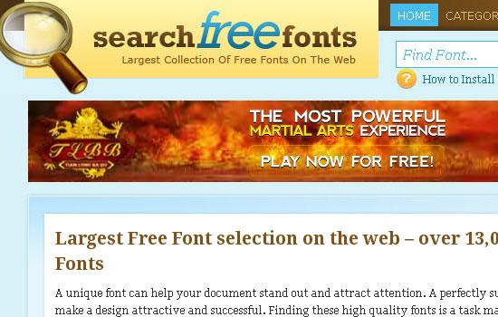25 Popular Websites to Download Free Fonts 12