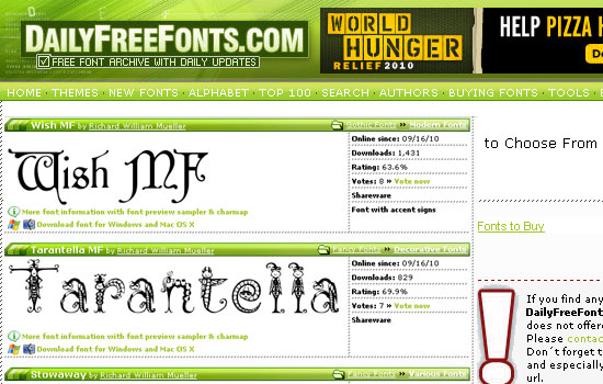 25 Popular Websites to Download Free Fonts 14