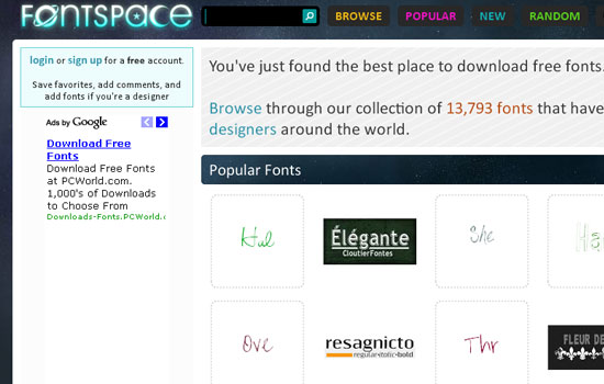 25 Popular Websites to Download Free Fonts 16