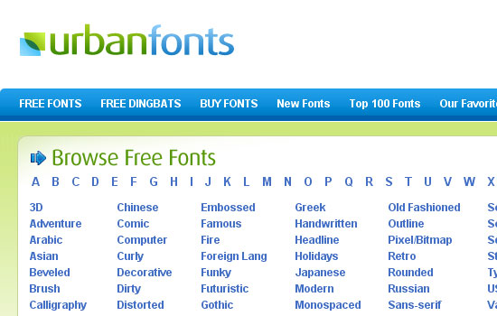 25 Popular Websites to Download Free Fonts 2