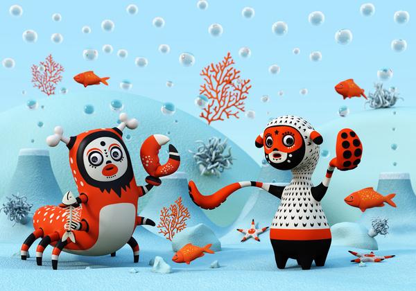 A Showcase of Beautiful 3D Illustrations by Teodoru Badiu 1