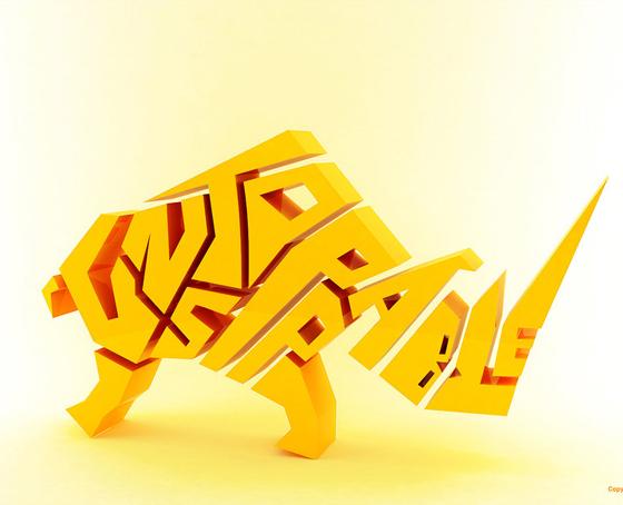 25 Spectacular Creative 3D Logos from Deviant Art 5