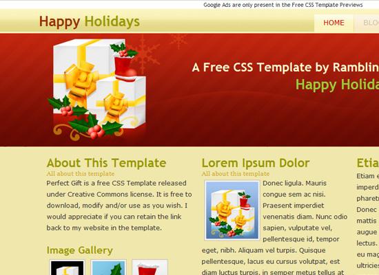 25 Free Web Design Themes for Christmas