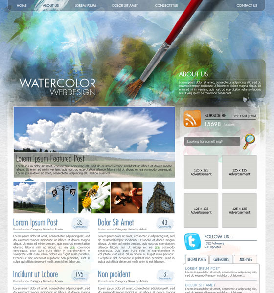 20 Most Useful Photoshop Tutorial to Create High Quality Web Design Layout 1