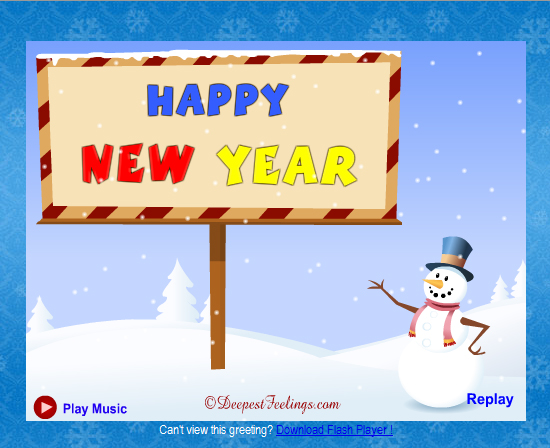 20 Most Beautiful Happy New Year E-Cards 13