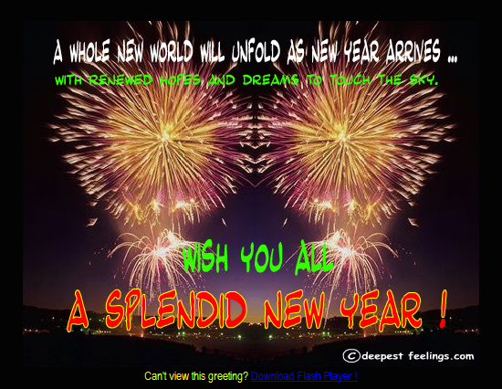 20 Most Beautiful Happy New Year E-Cards 19