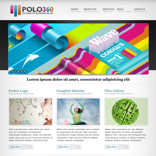 30 Beautiful and Creative Free Web Template with PSD 2