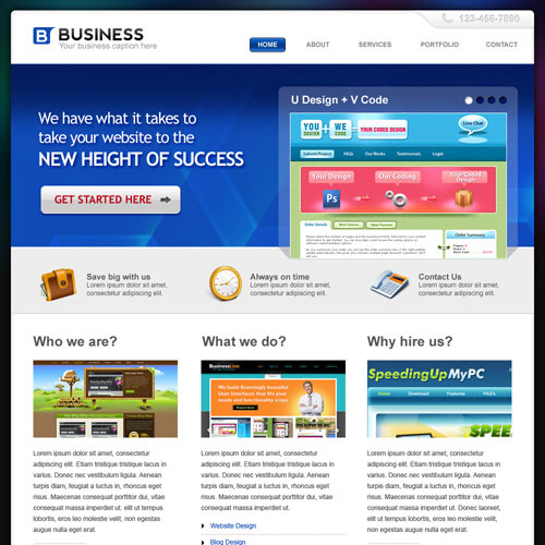 30 Beautiful and Creative Free Web Template with PSD 3