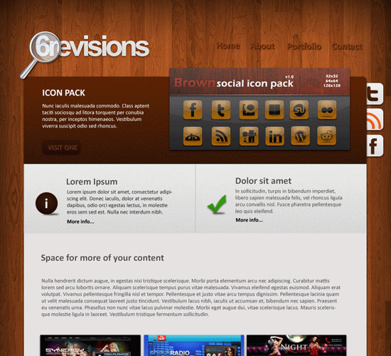 30 Beautiful and Creative Free Web Template with PSD 4