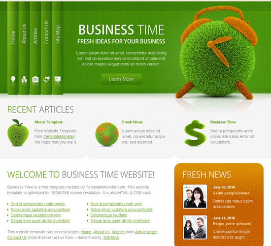 30 Beautiful and Creative Free Web Template with PSD 5