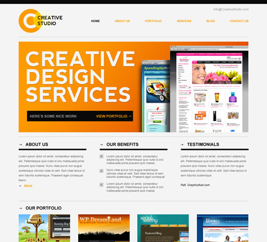 30 Beautiful and Creative Free Web Template with PSD 8