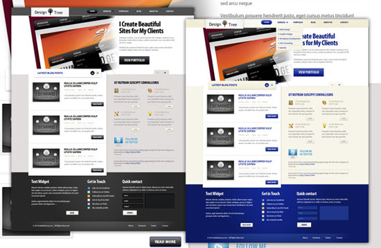 30 Beautiful and Creative Free Web Template with PSD 9