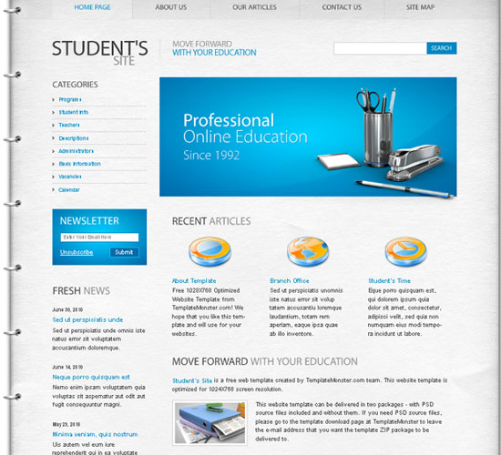 30 Beautiful and Creative Free Web Template with PSD 10