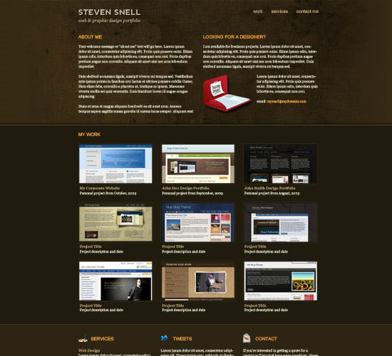 30 Beautiful and Creative Free Web Template with PSD 11