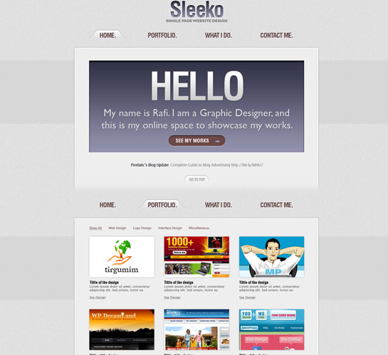 30 Beautiful and Creative Free Web Template with PSD 14