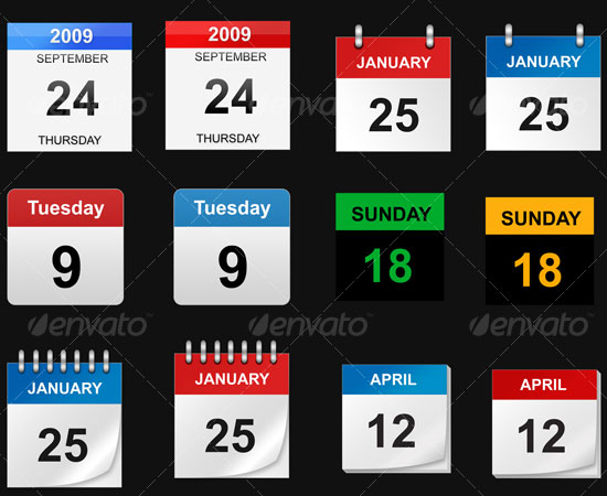 20 Beautiful and Useful Premium Calendar Resources with PSD/EPS File 16