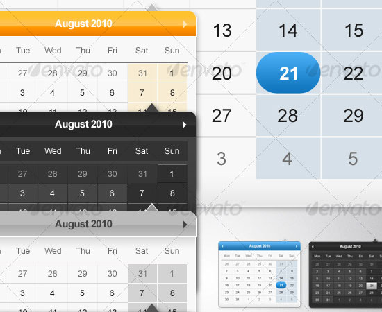 20 Beautiful and Useful Premium Calendar Resources with PSD/EPS File 6